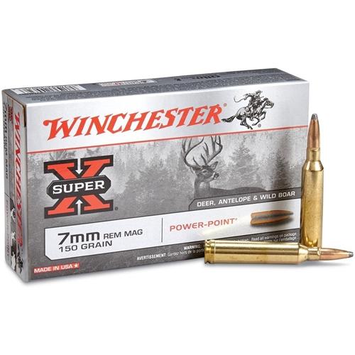 Boite de 20 cartouches WINCHESTER 150 grs PPSP calibre 7 RM X7MMR1