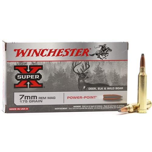 Boite de 20 cartouches WINCHESTER 175 grs PPSP calibre 7 RM X7MMR2