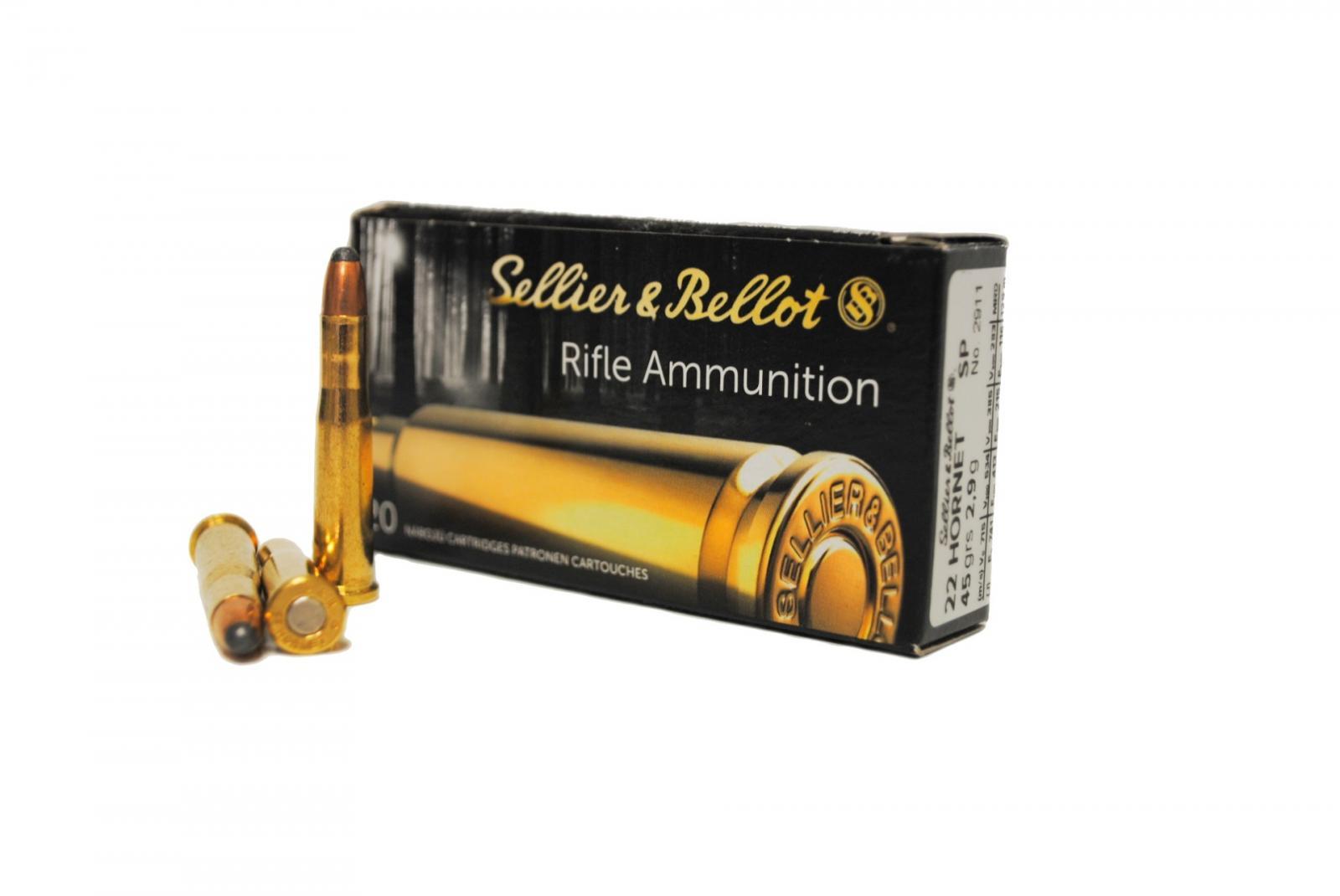Boite de 20 cartouches calibre 22 HORNET SELLIER BELLOT