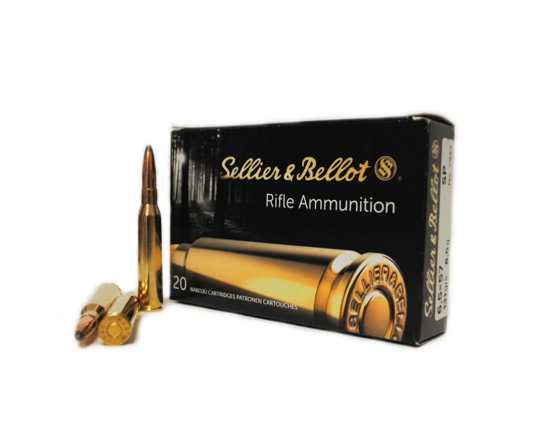 Boite de 20 cartouches calibre 6.5 x 57  SELLIER BELLOT