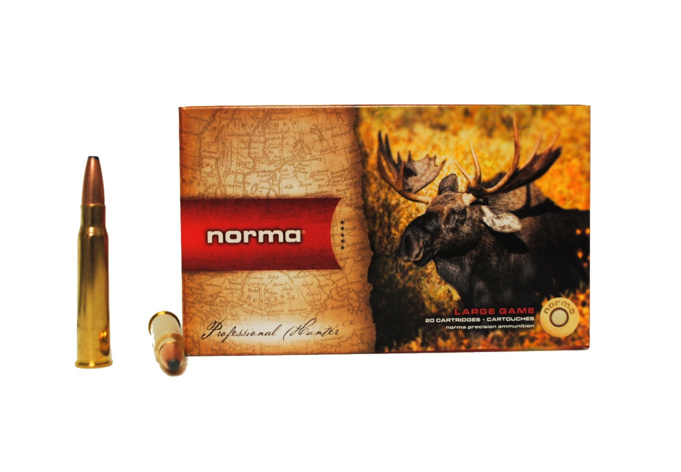 Boite de 20 cartouches NORMA Oryx  calibre 8 x 57 JRS N18010