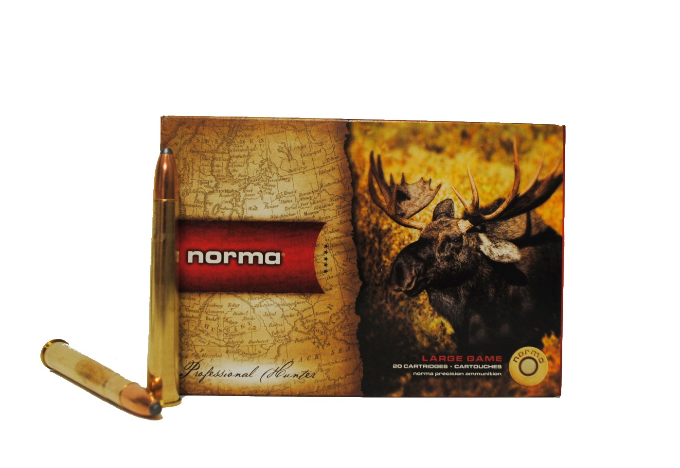 Boite de 20 cartouches NORMA Alaska  calibre 9.3 x 74R N19320