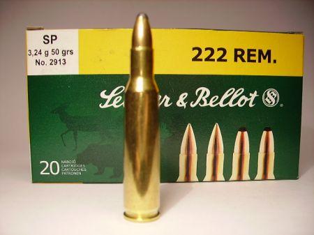 Boite de 20 cartouches calibre 222 SELLIER BELLOT SB222