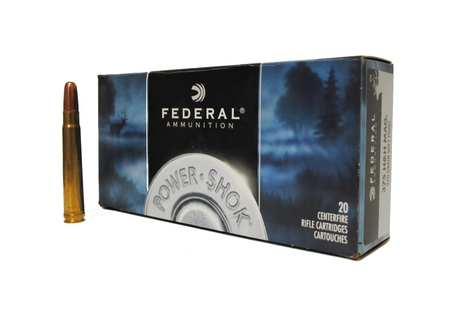Boite de 20 cartouches FEDERAL SP calibre 375 HH  270 GRS F375A