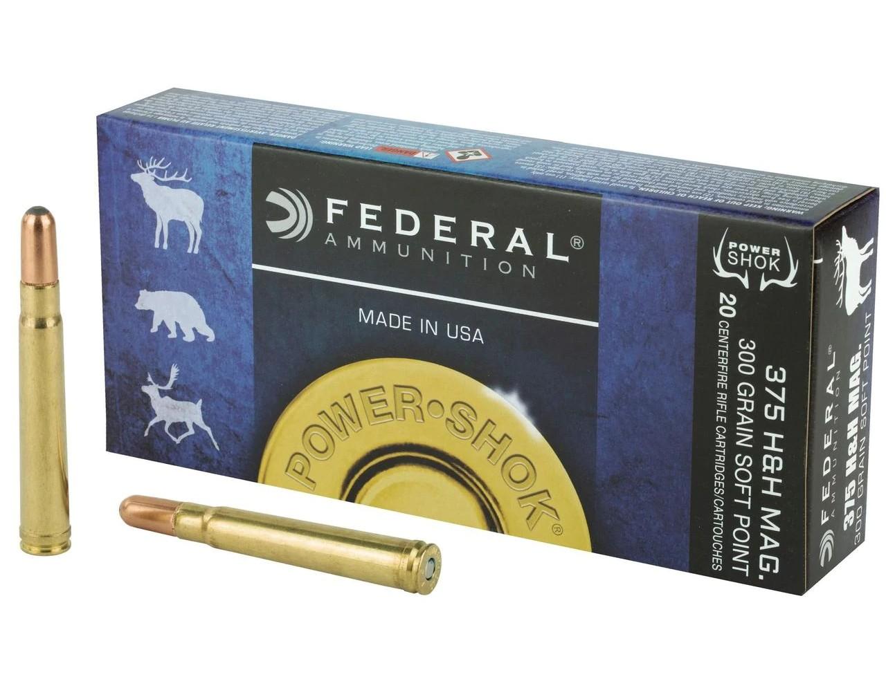 Boite de 20 cartouches FEDERAL SP calibre 375 HH 300 GRS F375B
