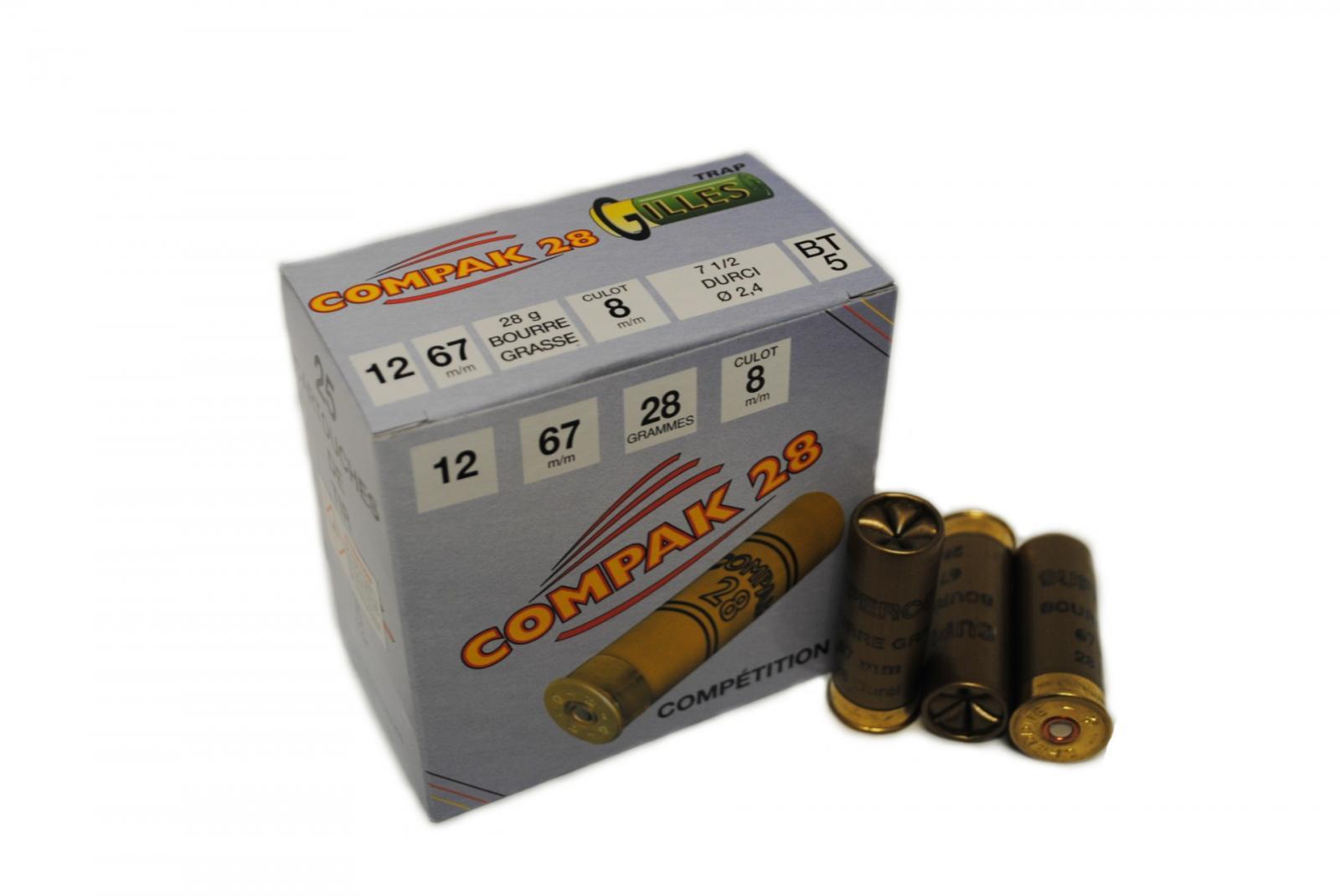 Boite de 25 cartouches CHOK SUPER COMPAK cal 12 BT5