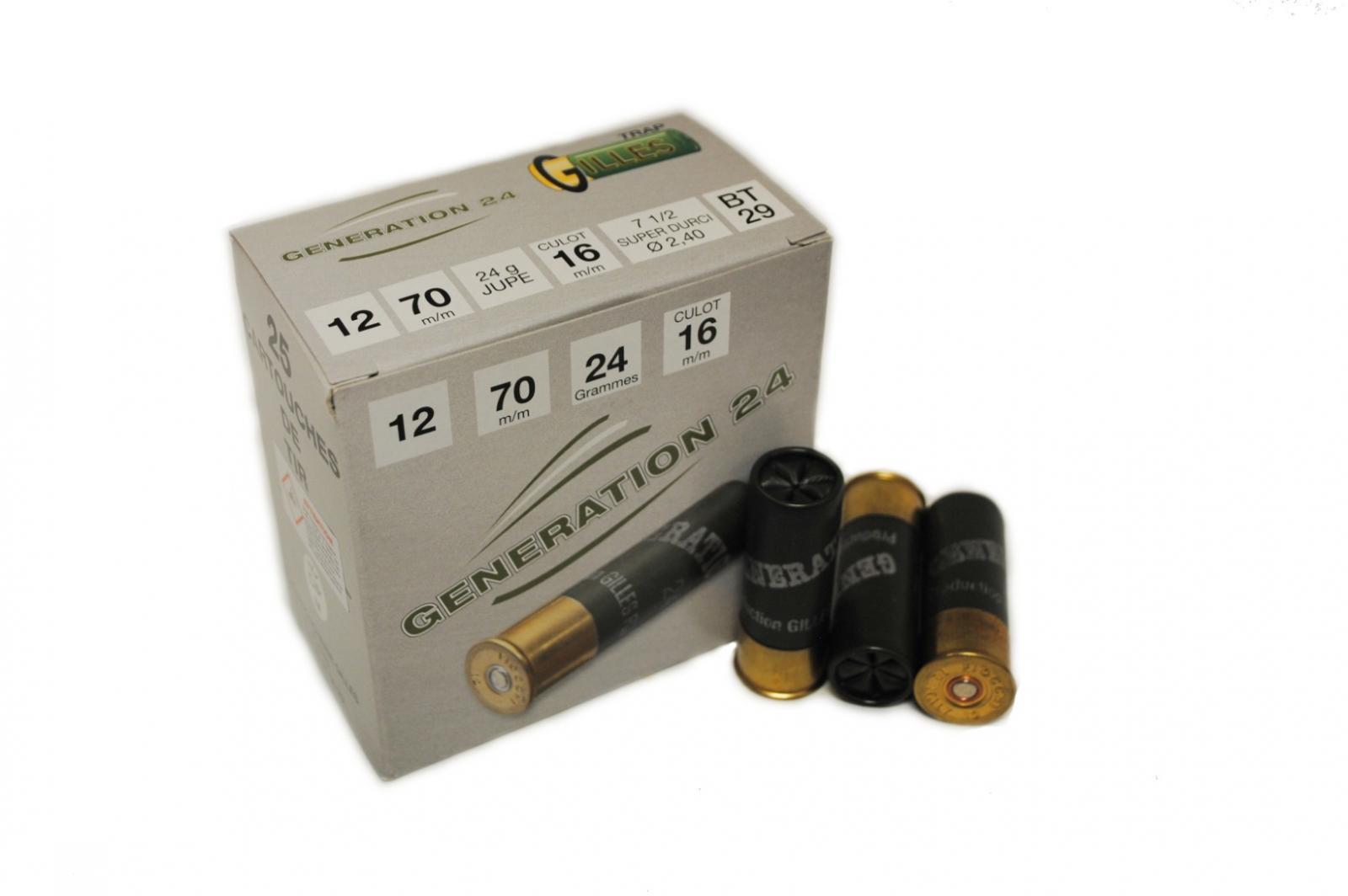 Boite de 25 cartouches GENERATION 24 SUPER DURCI cal 12 BT29