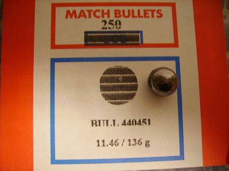 Boite de 250 balles rondes BALLEUROPE calibre 44 (.451) BA451