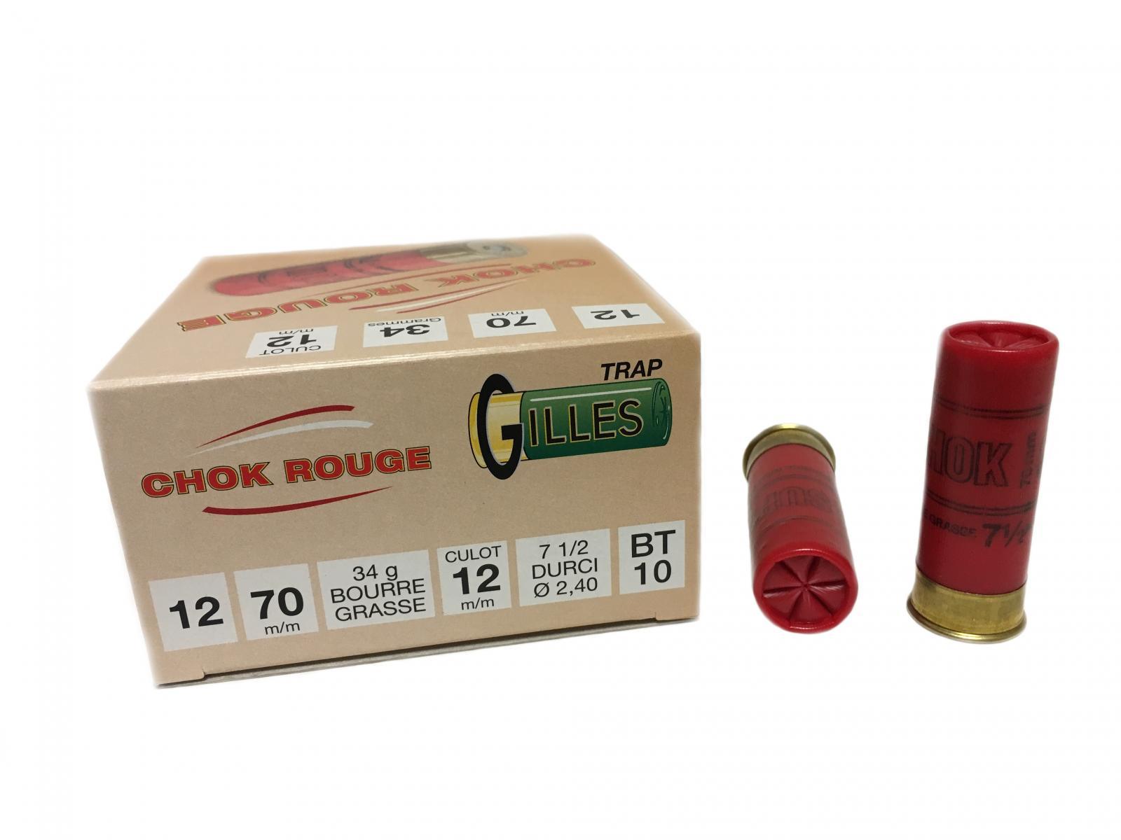 Boite de 25 cartouches CHOK ROUGE cal 12 BT10
