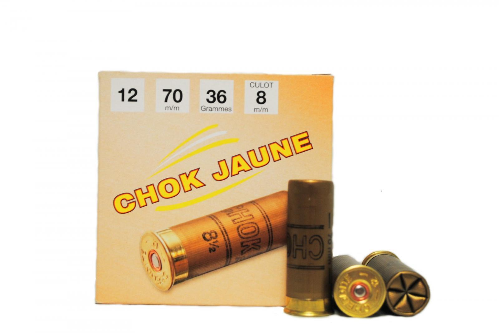 Boite de 25 cartouches CHOK JAUNE OR cal 12 BT6