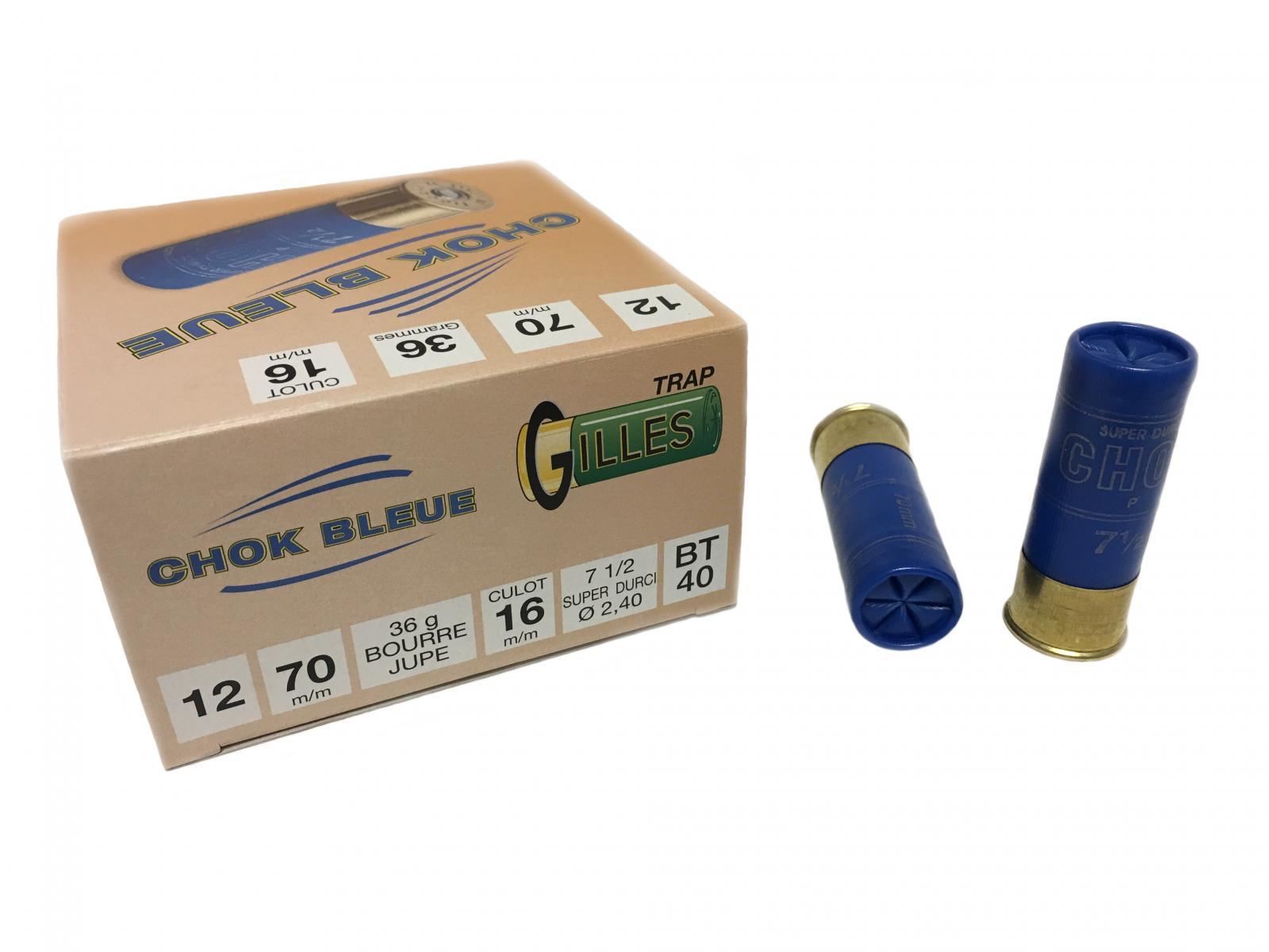 Boite de 25 cartouches CHOK BLEUE cal 12 BT40