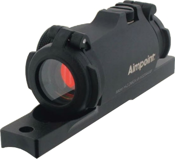 Viseur à point rouge AIMPOINT MICRO H2 + embase extra bas carabine semi auto