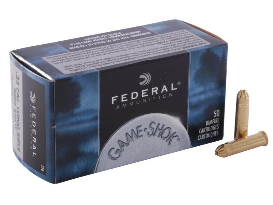 Boite de 50 cartouches 22 lr à grenaille FEDERAL