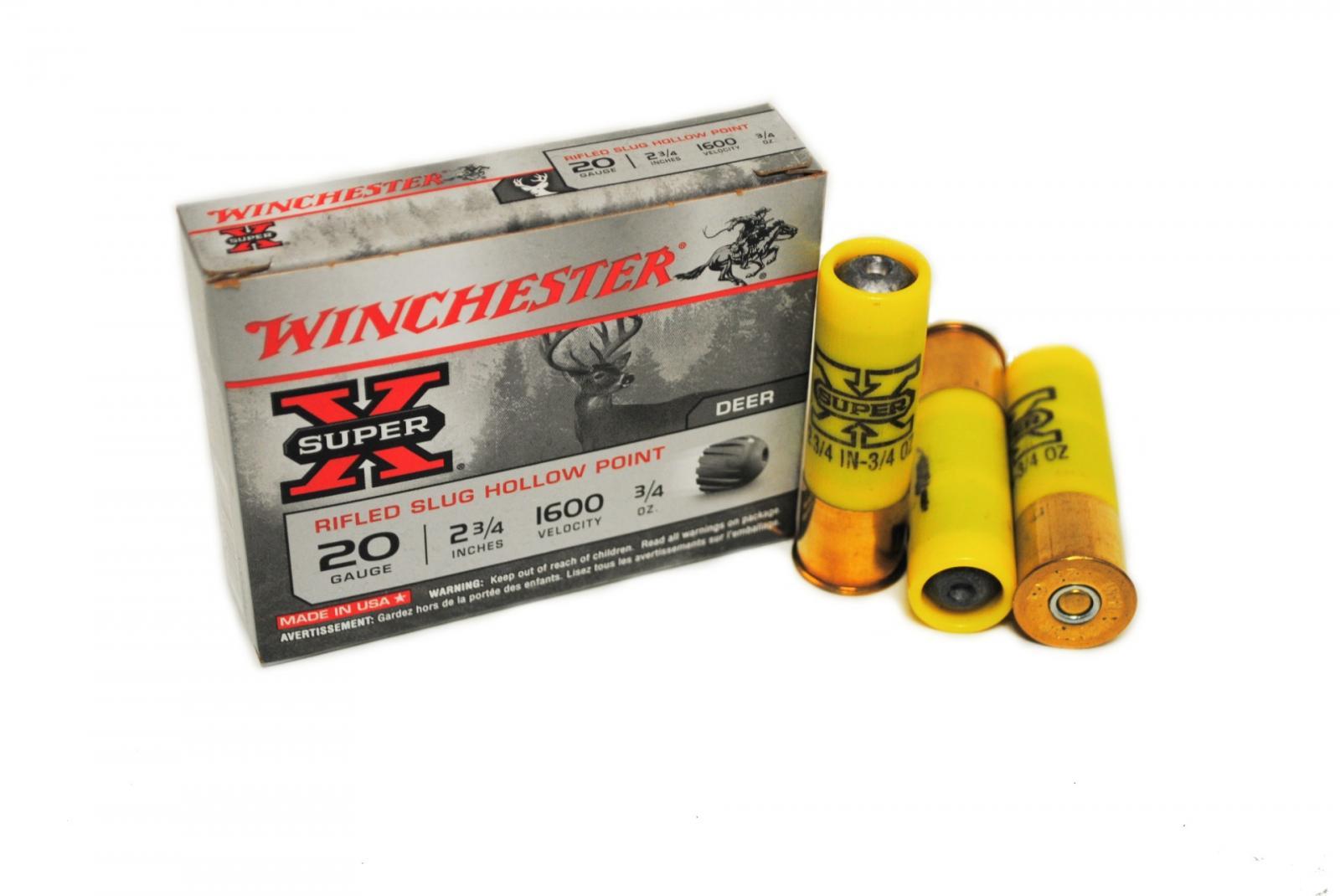 Boite de 5 balles WINCHESTER calibre 20 WI3