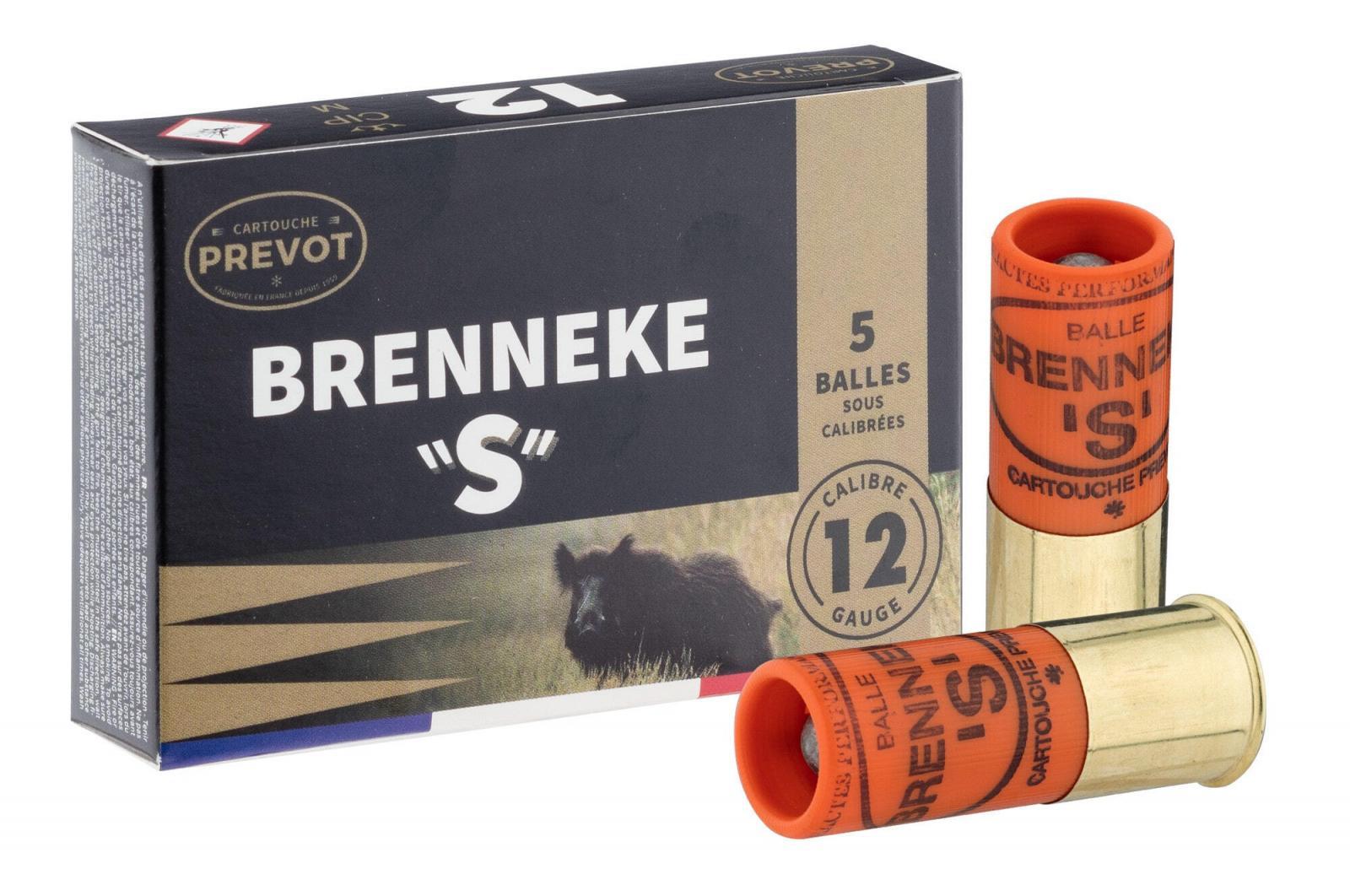 "Boite de 10 balles BRENNEKE ""S"" calibre 12 / 70 BR1S"
