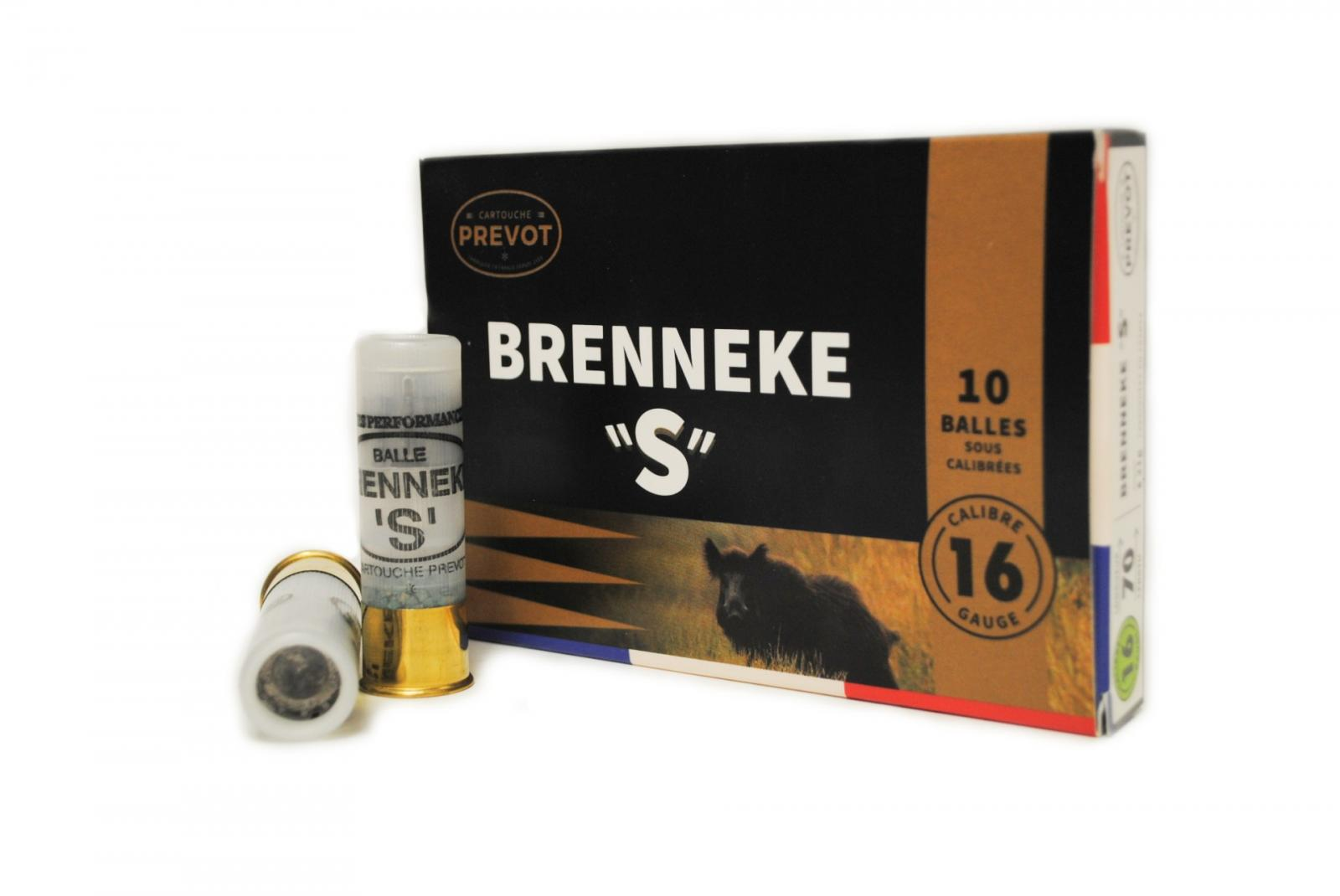 "Boite de 10 balles BRENNEKE ""S"" calibre 16 BR2S"