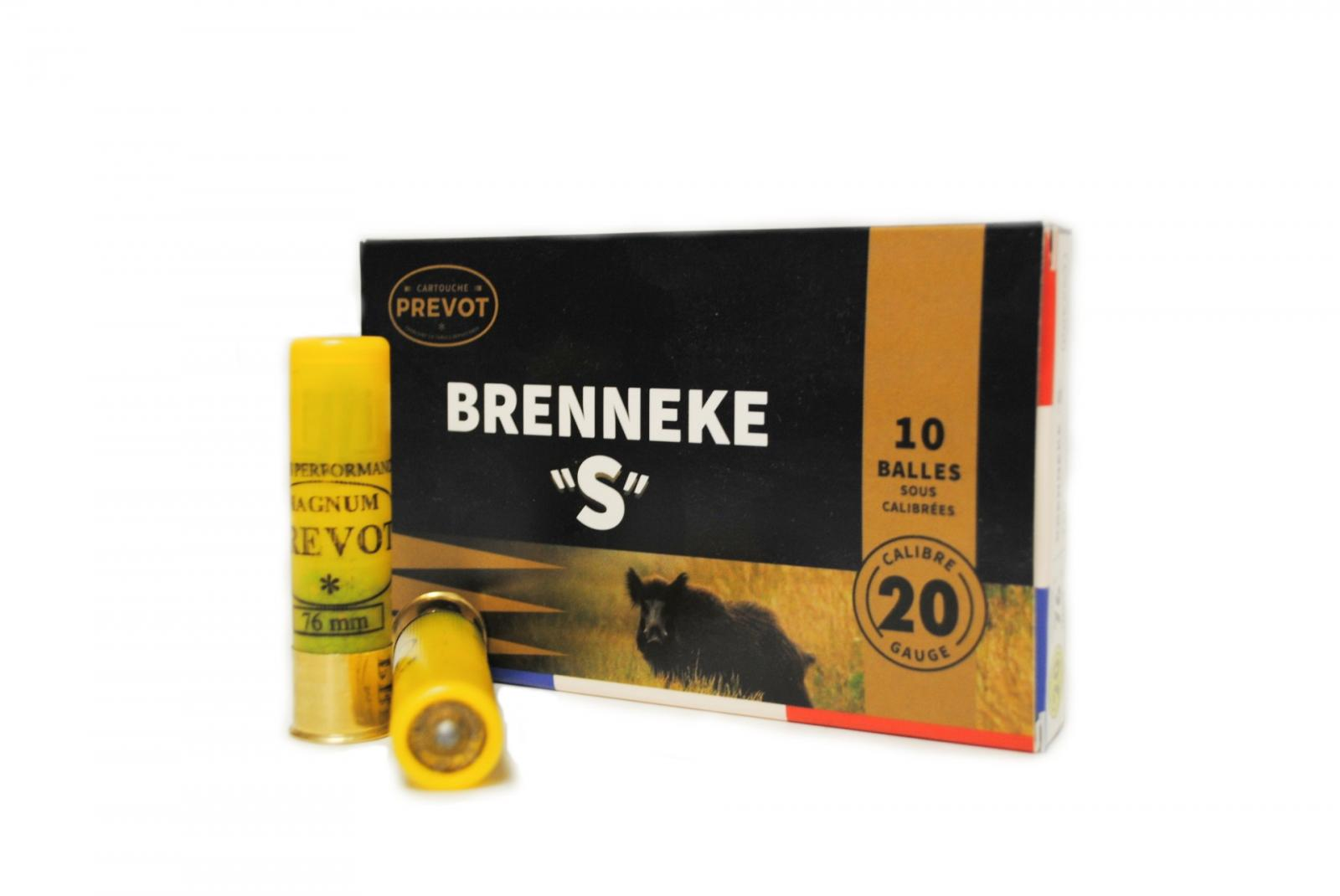 "Boite de 10 balles BRENNEKE ""S"" calibre 20 BR3S"