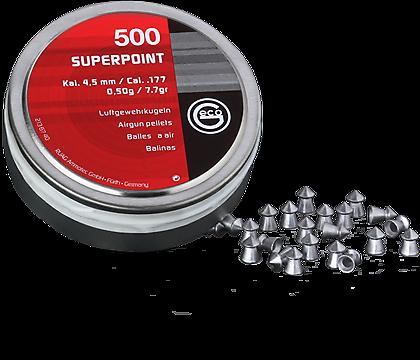 Boite de 500 plombs pointus cal 4.5 GECO  PLP