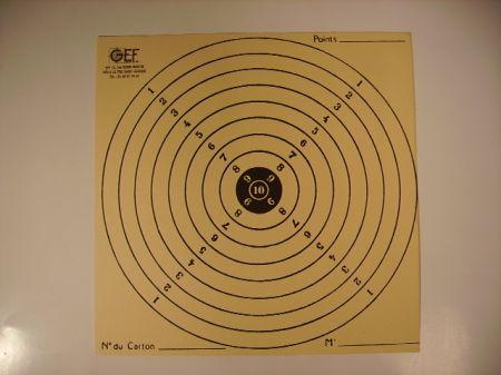 100 cibles petite mouche 15x15 CPM1515