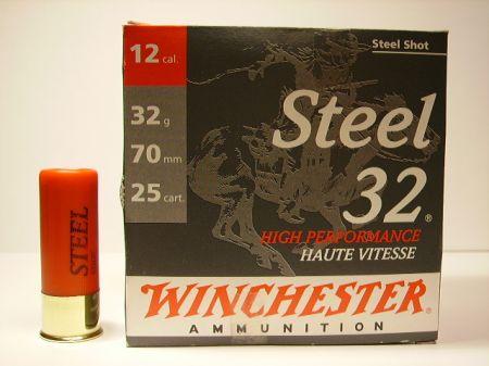 Boite de 25 cartouches WINCHESTER calibre 12/70 32 grs ACIER WST32