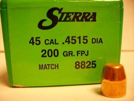 Cal 45 FPJ MATCH 200 grs Tournament Master SI8825