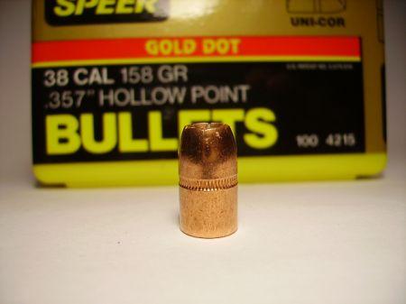 Cal 38 GOLD DOT 158 grs SP4215