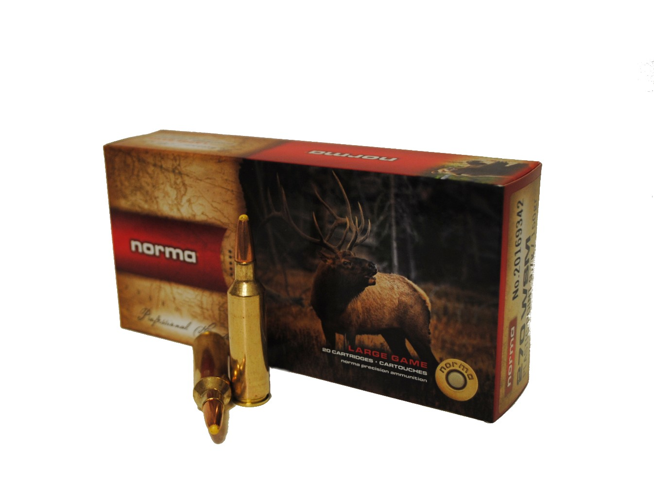 Boite de 20 cartouches NORMA PLASTIC POINT DC calibre 270 WSM  N16934