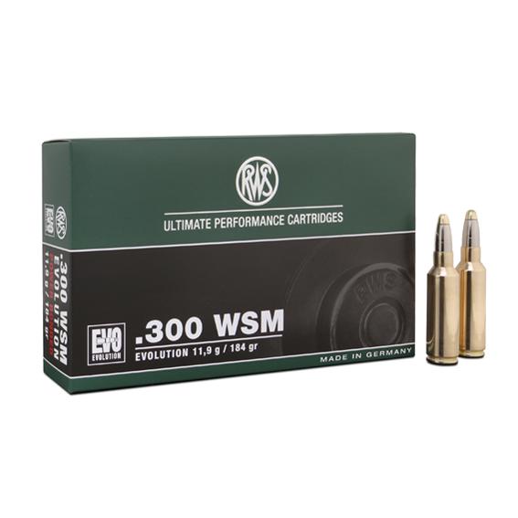Boite de 20 cartouches RWS EVOLUTION calibre 300 WMG  R2315433