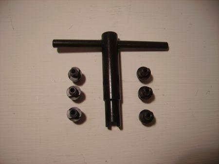 Clé à cheminée universelle + 6 cheminées PIETTA PAC02060
