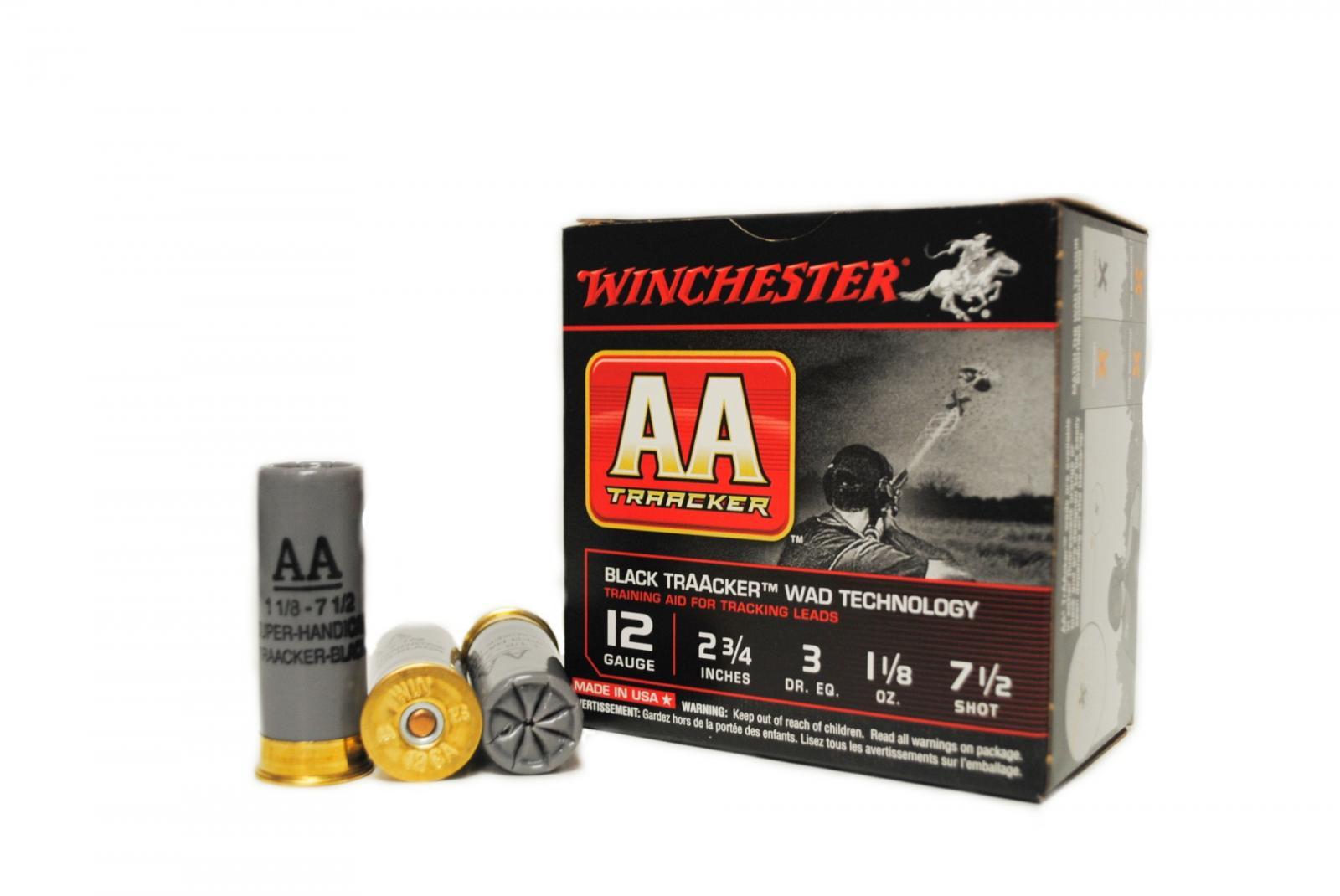 Boite de  25 cartouches Winchester Traçantes NOIR - 32 grs WBTAAHA12