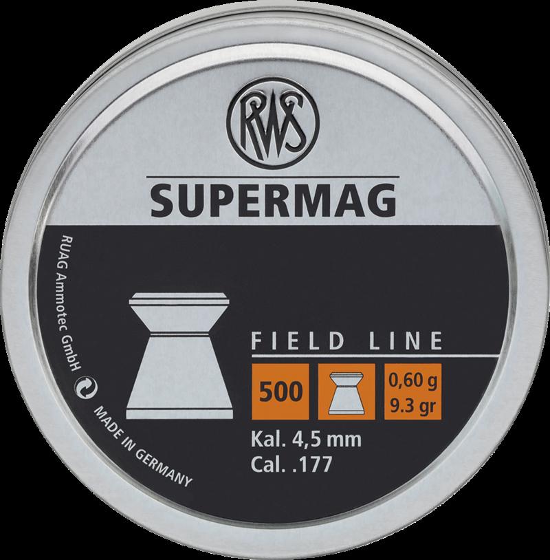 Boite de 500 plombs Plats RWS SUPERMAG cal 4.5 mm