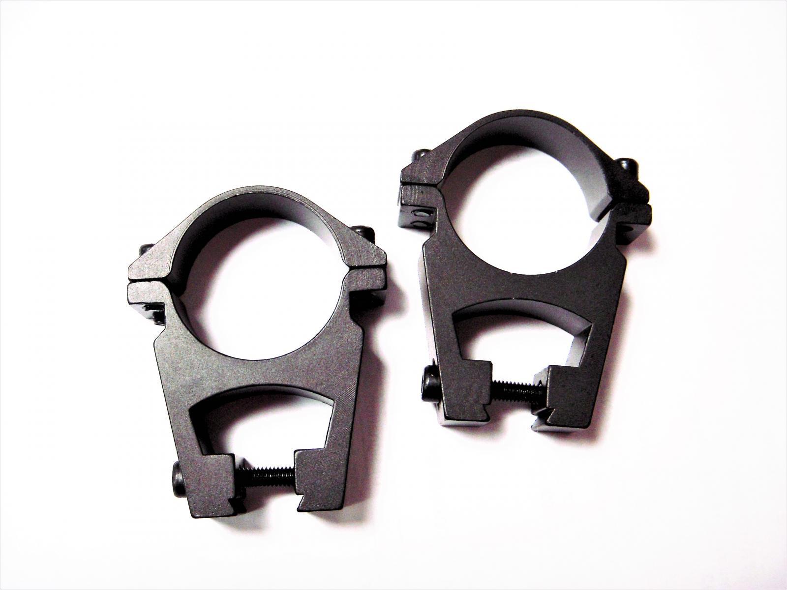 Colliers diamètre 30mm pour montage haut double visée rail 11mm