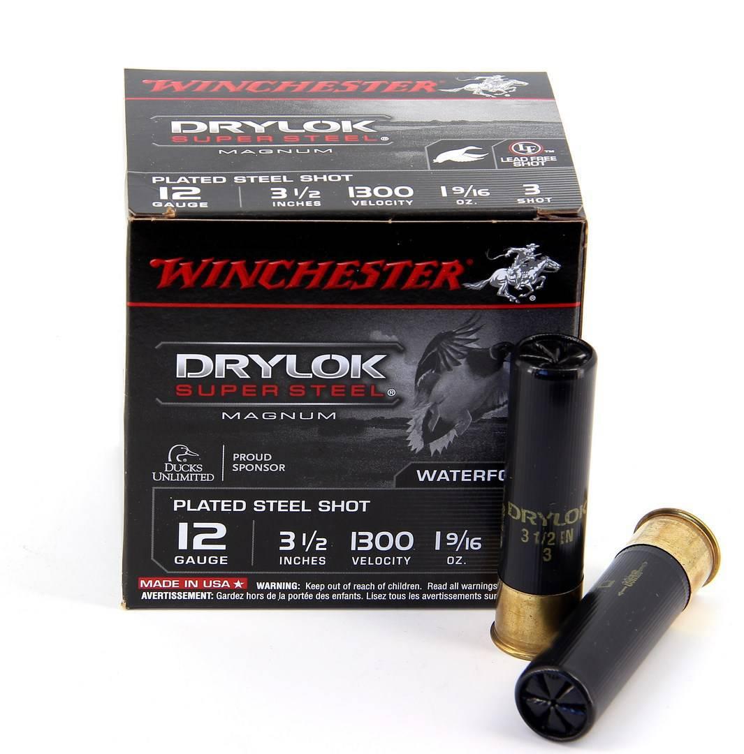 Boite de 25 cartouches WINCHESTER calibre 12/89  ACIER DRYLOCK WST44