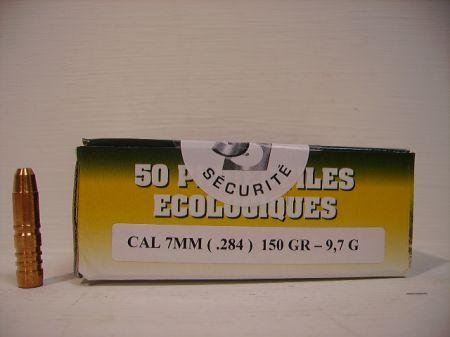 Boite de 50 ogives GPA 7 MM 150 grs