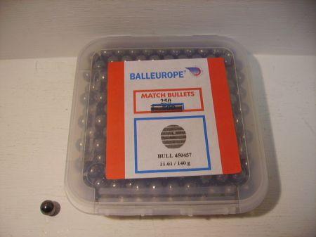 Boite de 250 balles rondes BALLEUROPE calibre 44 (.457) BA457