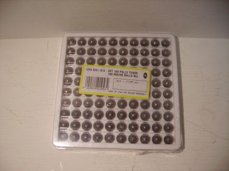 Boite de 100 balles PEDERSOLI  314 PSUSA52014