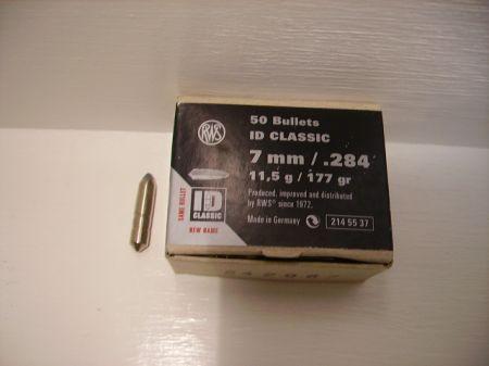50 ogives ID CLASSIC RWS calibre 7 mm 11.5 g R2145537
