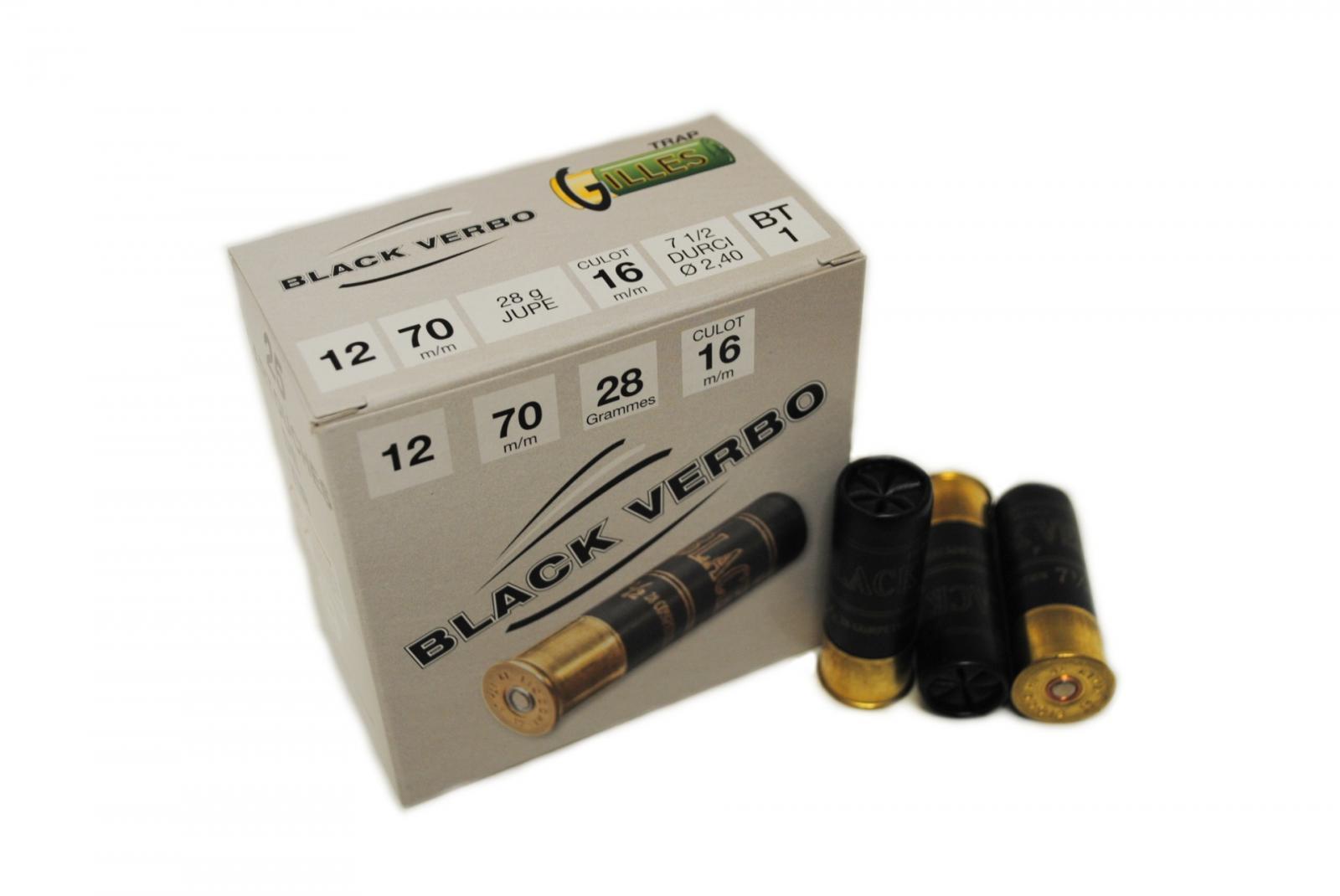Boite de 25 cartouches BLACK VERBO cal 12 BT1