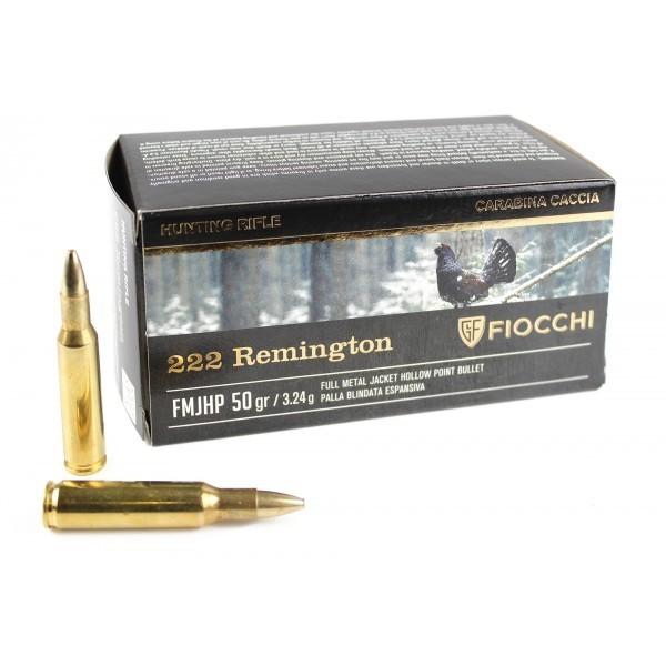 Boite de 50 cartouches calibre 222 FIOCCHI FIO702220