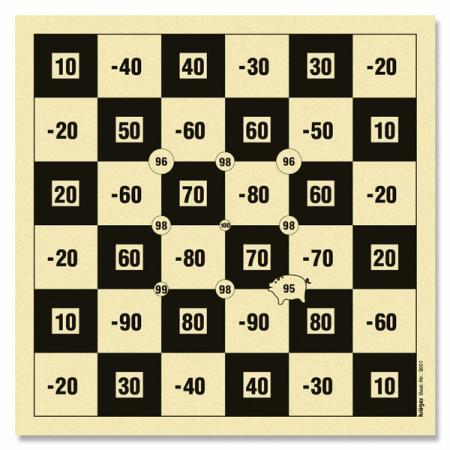 Cibles de loisir ECHIQUIER 10x10 KRU9000A