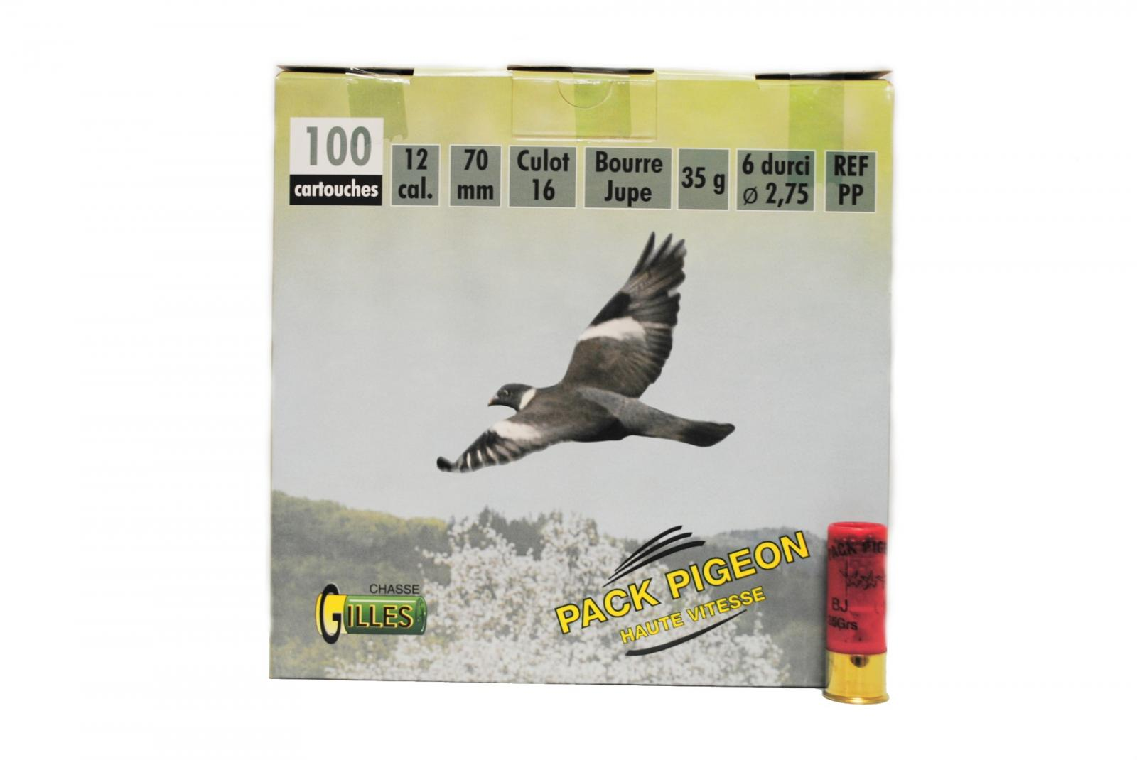 Pack Pigeon 12/70 grand culot 35 grs PP