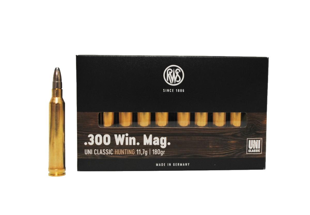 Boite de 20 cartouches RWS UNI Classic calibre 300 WMG R2117657