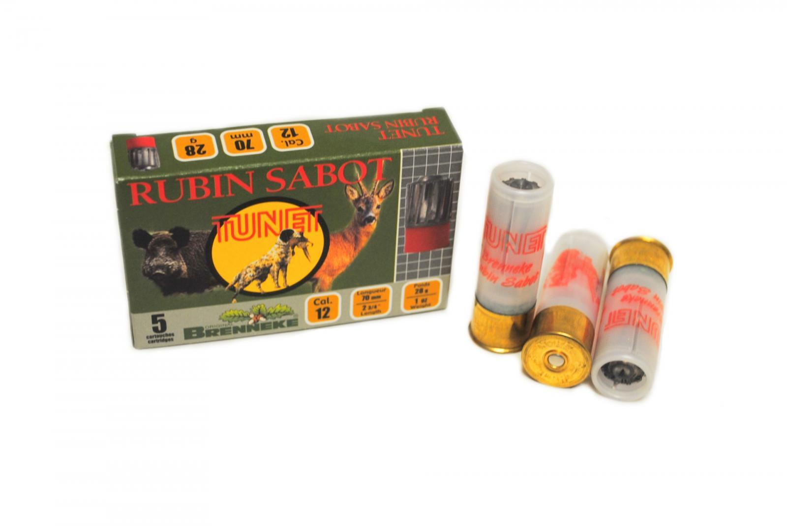 Boite de 5 balles RUBIN SABOT calibre 12 / 70 RUBIN