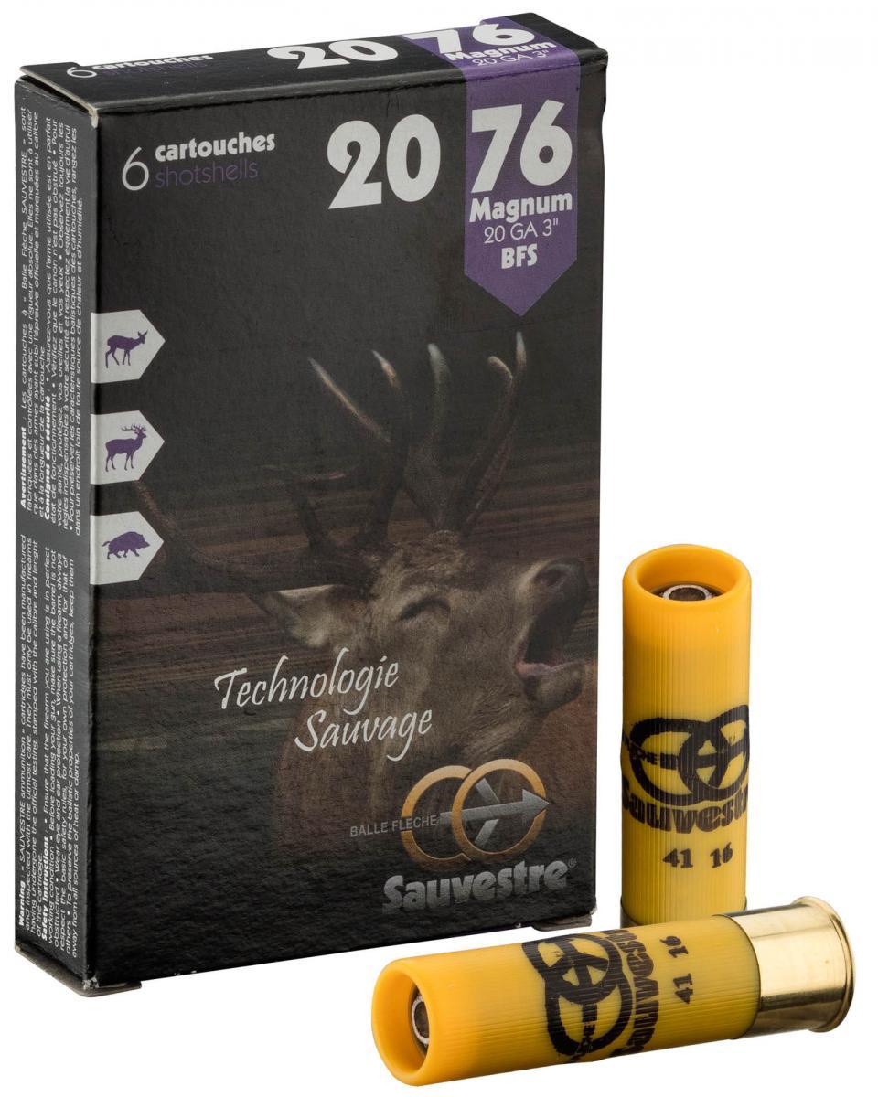 Boite de 6 balles SAUVESTRE calibre 20 SAM3