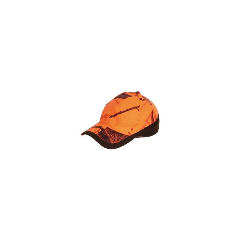 Casquette SOMLYS camo orange fluo