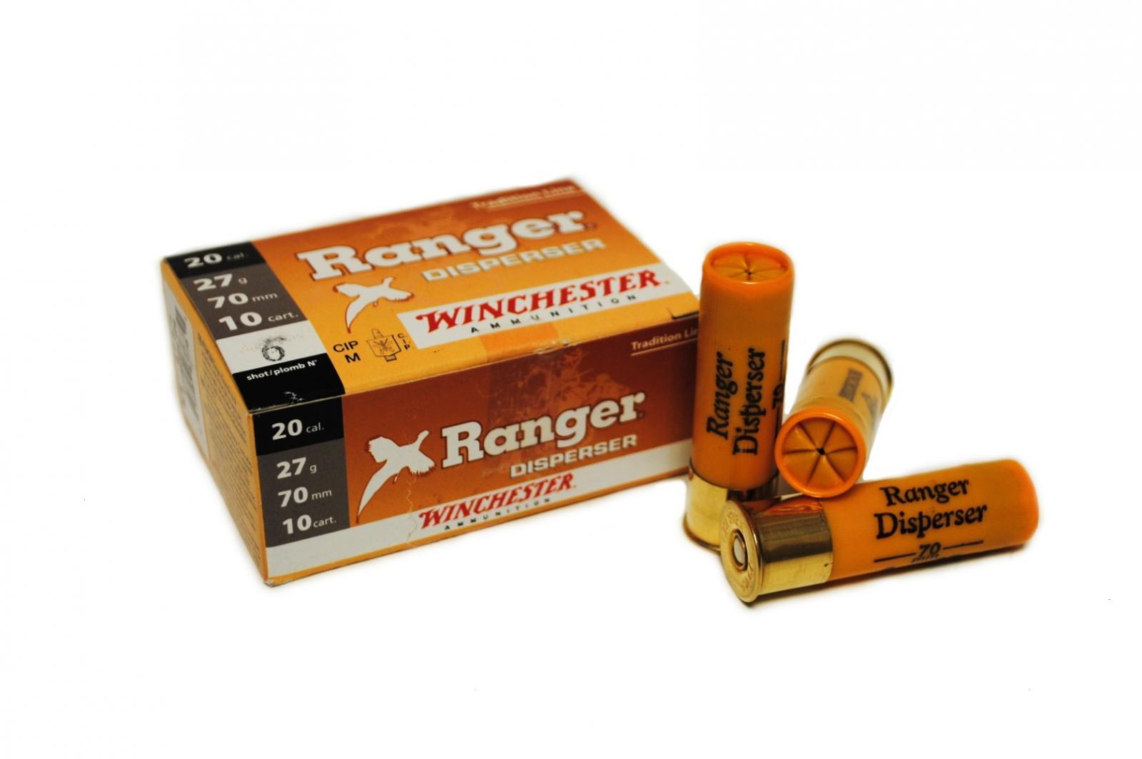 Boite de 10 cartouches calibre 20 RANGER DISPERSANTE RCP20