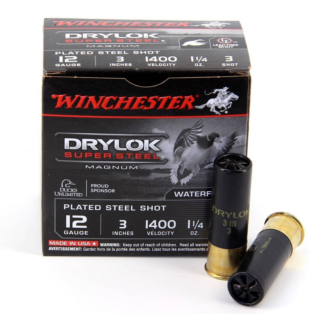 Boite de 25 cartouches WINCHESTER calibre 12/76 ACIER DRYLOCK WCXSV