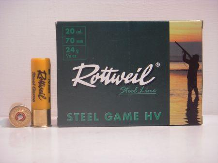 Boite de 10 cartouches ROTTWEIL calibre 20/70 Haute Vitesse R20SGHV