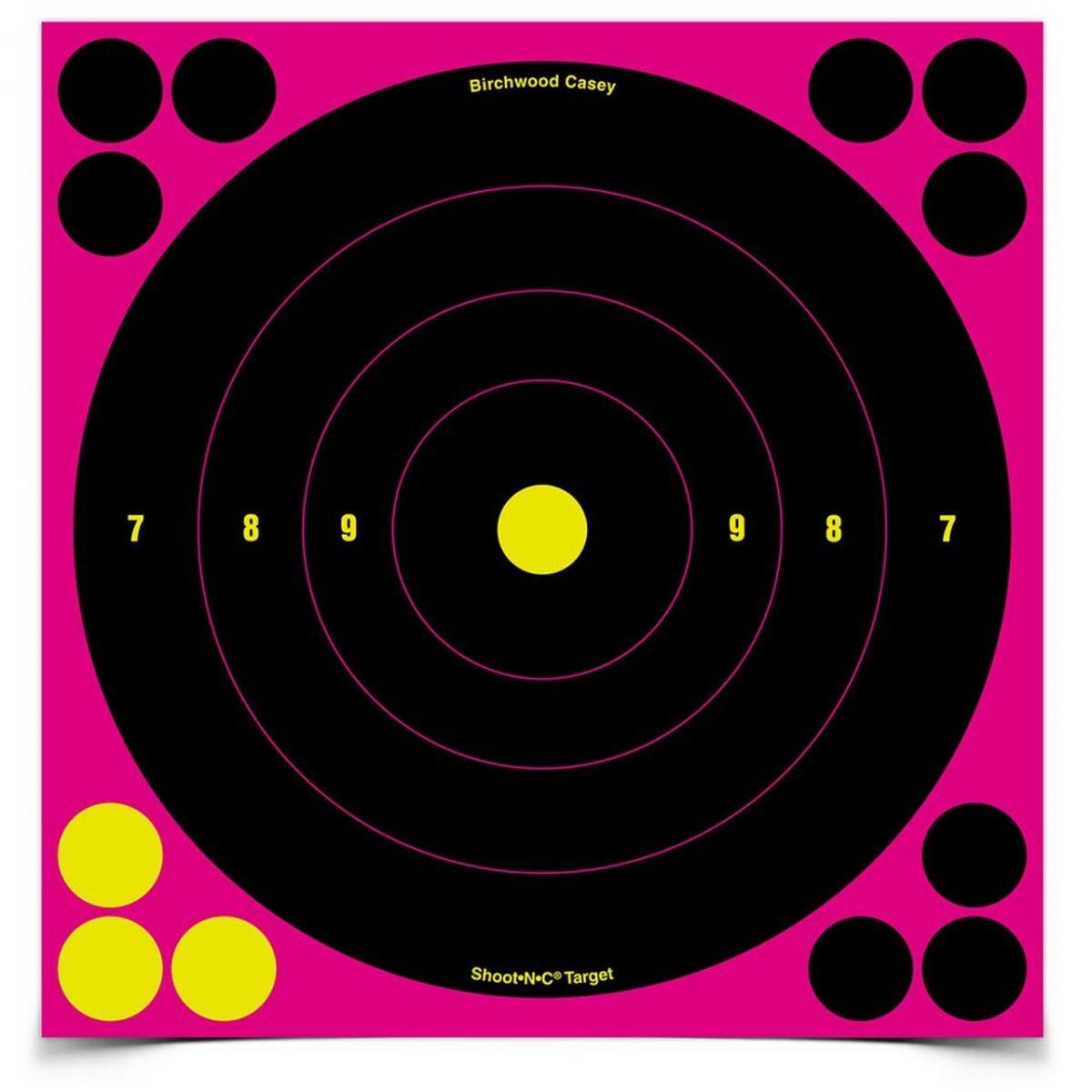 """cibles autocollantes 8"""" avec impact fluo rose BA34808"""