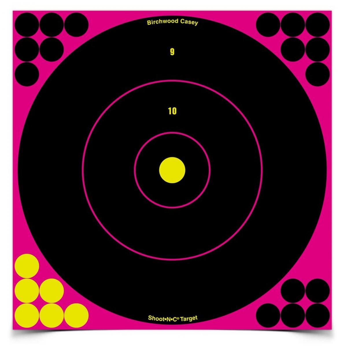 """Cibles autocollantes 12"""" avec impact fluo rose BA34027"""